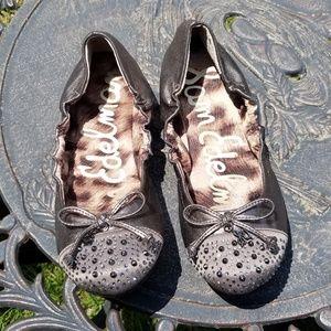 Sam Edelman Ballett Flats Beatrix Silver Shoes